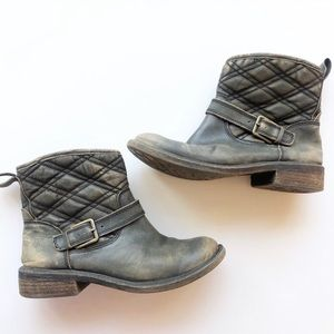 Lucky Brand Nordic Distressed Quilted Booties